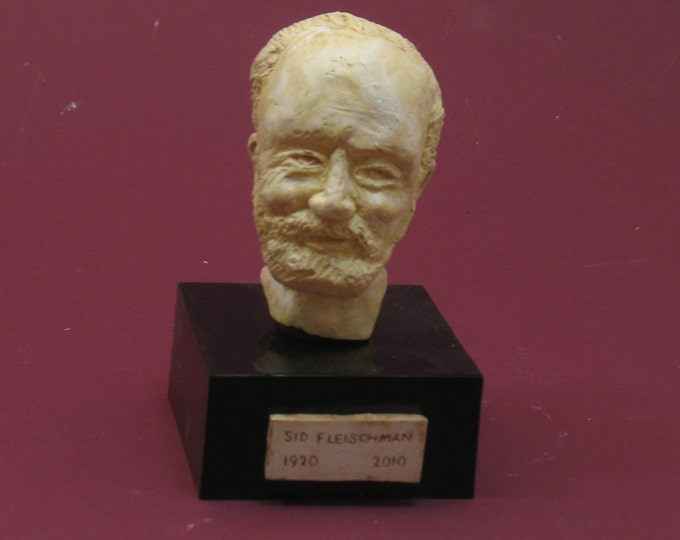 Fleischman - childrens' author.  Sid Fleishman bust in hydrostone