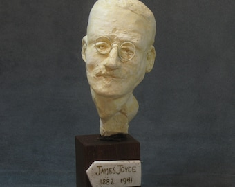 Joyce - bust of James Joyce in orthocal with bronze patina