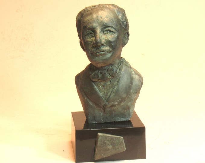 Strauss - Bust of Richard Strauss in Orthocal with Bronze patina