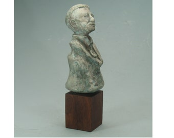 L.Frank Baum - author of The Wizard of Oz stories - antiqued bronze patina
