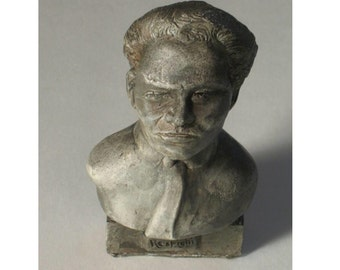 Respighi- bust of Composer Ottorino Respighi - hydro-stone pewtor