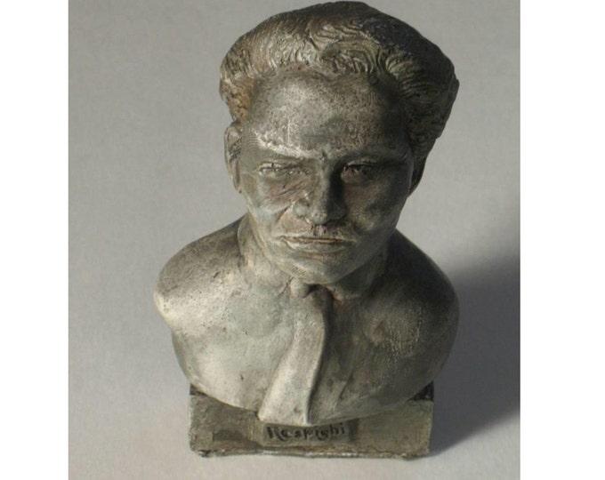 Respighi- bust of Composer Ottorino Respighi - hydro-stone pewtor