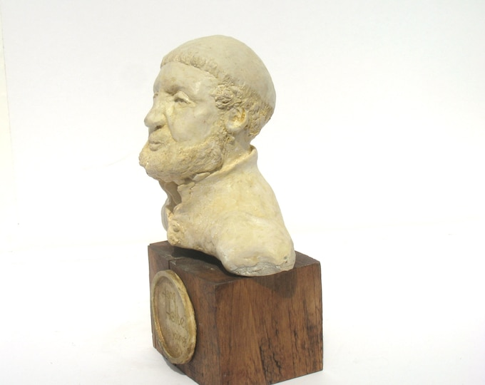 Featured listing image: Hans Holbein, artist extraordinaire, bust on wood - antique white