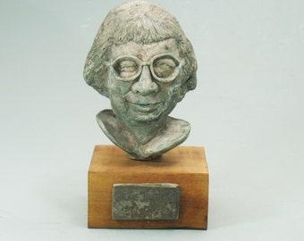 Jane Jacobs - political economist extraordinaire. Antique white or bronze patina