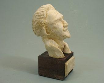 Ezra Pound - poet's bust in antique white