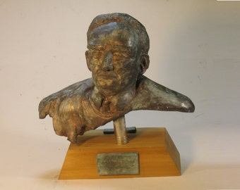 Hand, Learned -bust of Judge Learned Hand in high density plaster - bronze patina