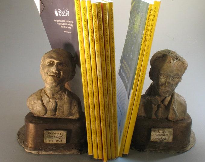 Crick & Watson - Bookends in hydrostone w patina