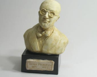 Serge Prokofiev - bust in high density hydrocal, antique white finish