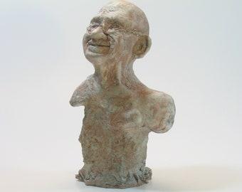 Gandhi on a rock