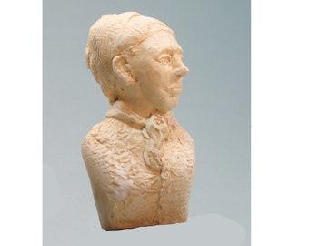 Harriet Tubman,antique white on high density plaster