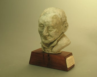 Alfred North Whitehead  - hydrocal with bronze patina
