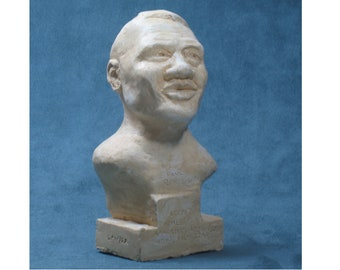 Paul Robeson bust in hydro-stone