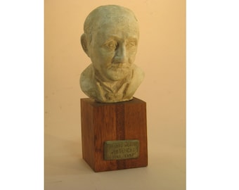 Alfred North Whitehead  - hydrocal with antique white finish