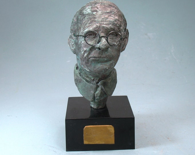 Featured listing image: Carl Jung, psychologist - bust with bronze patina