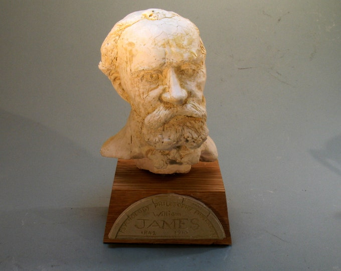 James - William James, Philosopher, Psychologist - hydrocal with antique white finish