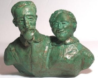 An Evening with Sholem Aleichem - my grandparents - wood resin casting