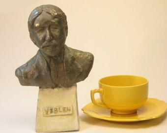 Veblen - bust of economist Thorstein Veblen