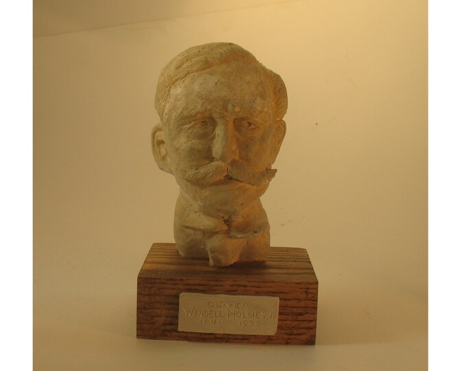 Holmes, Oliver Wendell Holmes Jr  -bust in high density plaster