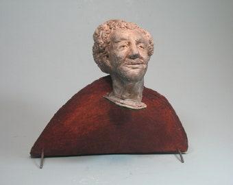 Vonnegut -- Kurt Vonnegut on faux marble (plastic) base