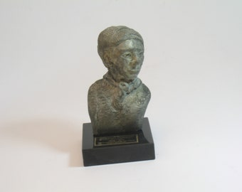 Harriet Tubman, faux bronze patina on wood