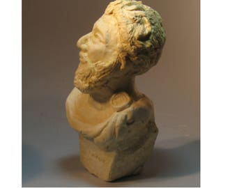 Marcus Aurelius - Philosopher Emperor of Rome - hydrocal antique white finish
