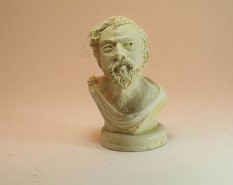 XENOPHON bust (student of Socrates) -antique white