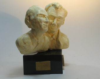 Crick & Watson - double bust in hydrocal plaster