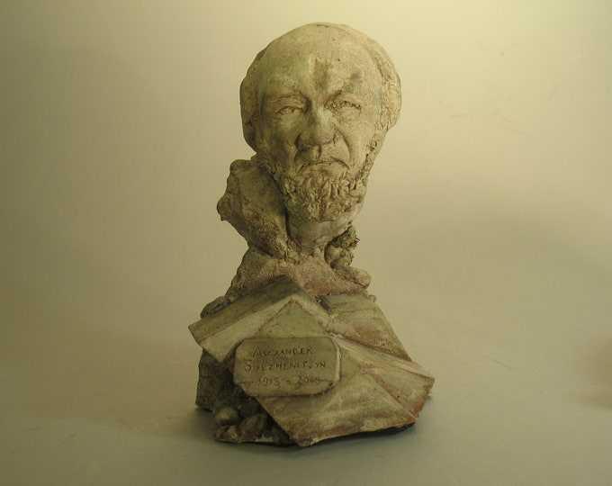 Solzhenitsyn: Kiln of Determination - Bust of Alexander Solzhenitsyn...w/patina