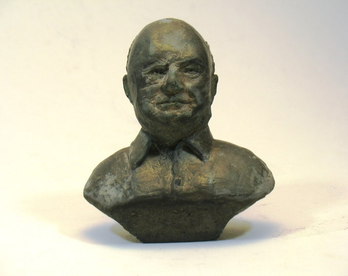 Paul Hindemith bust in high-density plaster - bronze patina or antique white
