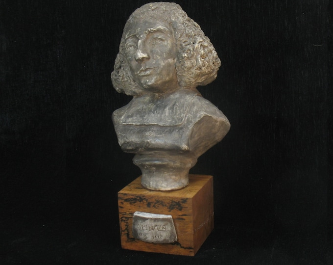 Spinoza, Benedict Baruch - large bust antique bronze