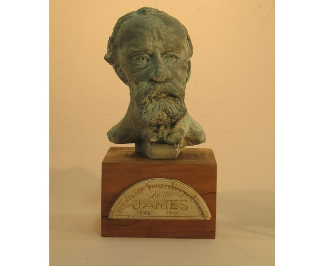 James - William James, Philosopher, Psychologist - hydrostone antique bronze finish
