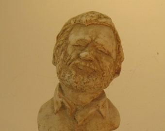 Stephen Sondheim - bust in hydrocal plaster, antique white