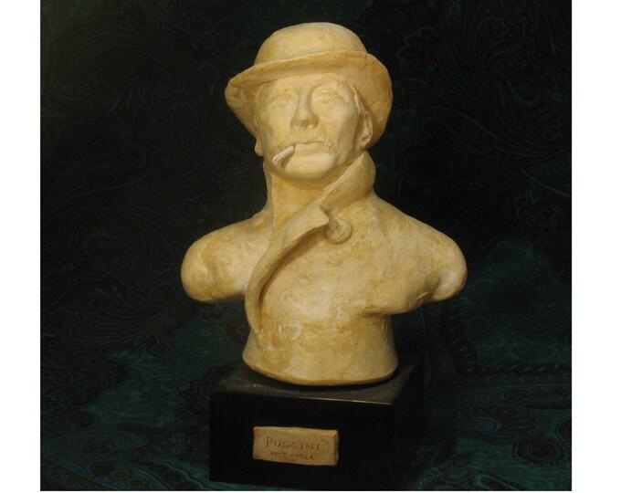 Puccini - large bust of Giacomo Puccini - antique finish
