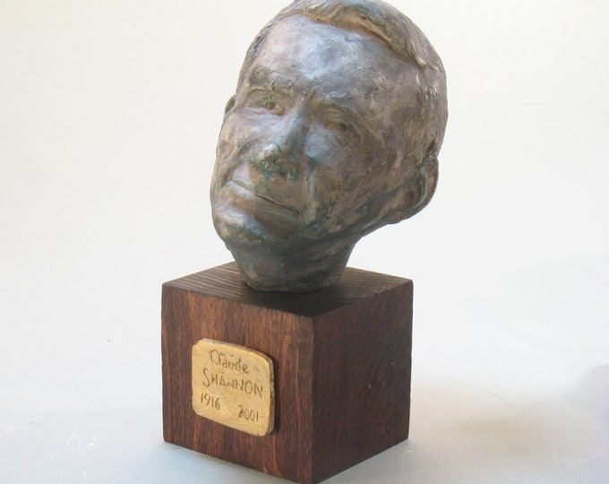 Claude Shannon - bust of the founder of Info Science,