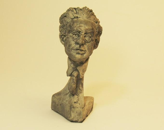 Mahler -  bust of Gustav Mahler in Hydro Stone - bronze patina