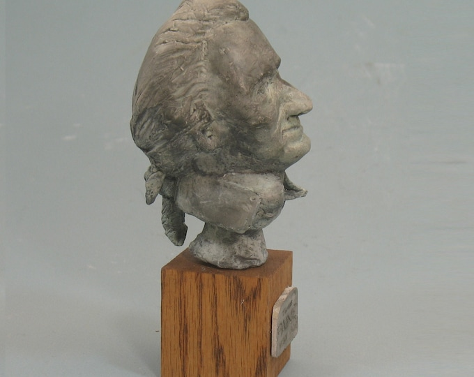 Paine - bust of Tom Paine  - faux bronze patina