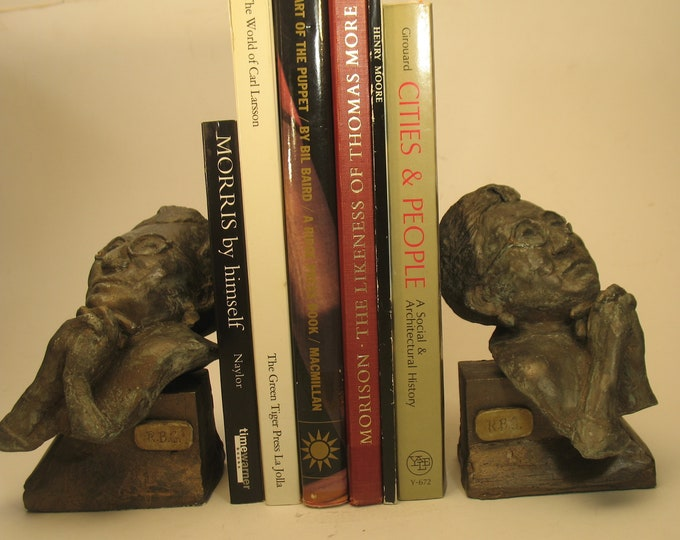 Ruth Bader Ginsburg pair of matching bookends in high density plaster bronze patina