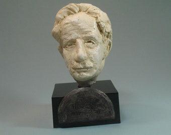 Benton, bust of Thomas Hart Benton, American artist in hydrocal