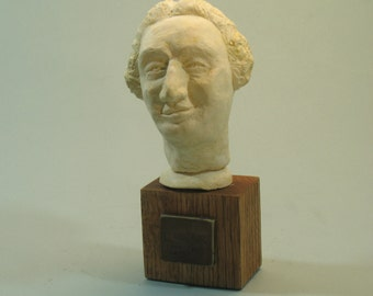 Hume - bust of the philosopher David Hume, antique bronze patina