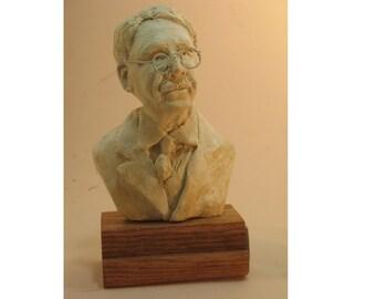 John Dewey - bust of the educator, philosopher, antique white