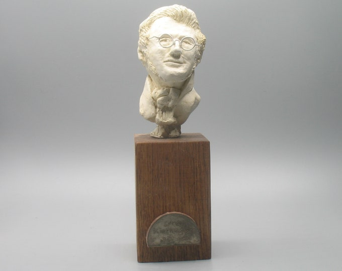 Featured listing image: Soren Kierkegaard - bust of Danish philosopher, antique white