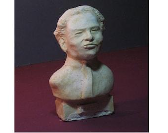 Respighi- bust of Composer Ottorino Respighi - hydrocal antique finish