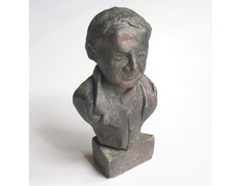 Edison. Thomas Edison bust in hydrocal. Bronze or Antique White patina