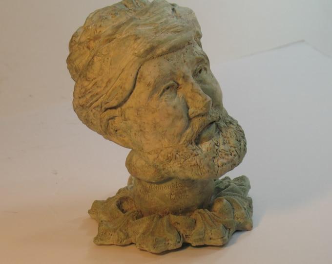Maimonides - bust of Moses ben Maimon - antiqued bronze finish