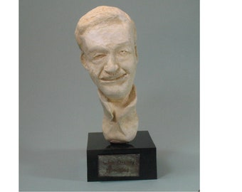 Walt the Animator, circa 1940- bust of the creator of Disneyland in hydrocal