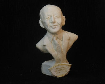 Suzuki - bust of Shinichi Suzuki founder of the violin method