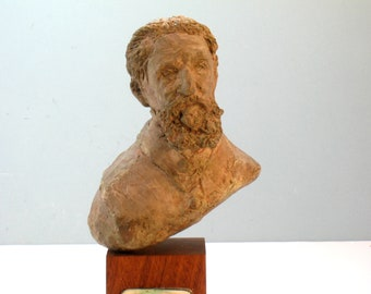 Michelangelo - bust of the artist in high density plaster bronze patina