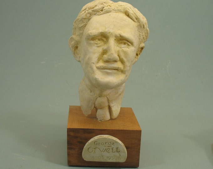George Orwell --bust of the author in high density plaster