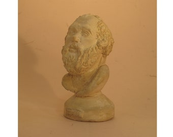 Socrates - copy of an ancient bust in hydrocal plaster
