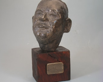 Clarence Darrow - bust on wooden base